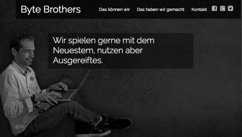 WordPress für die Byte Brothers
